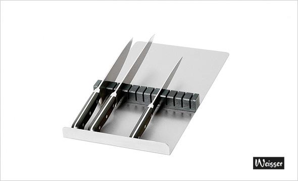 Weisser Messerhalteplatte