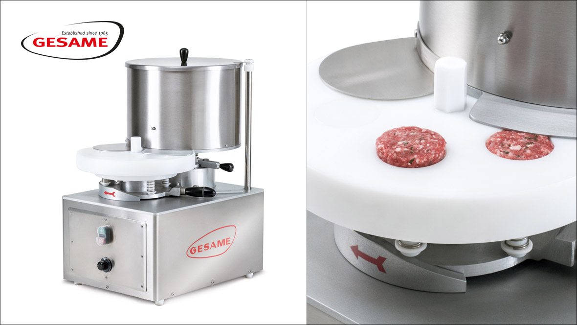 Gesame Hamburger-Portioniermaschine MH100