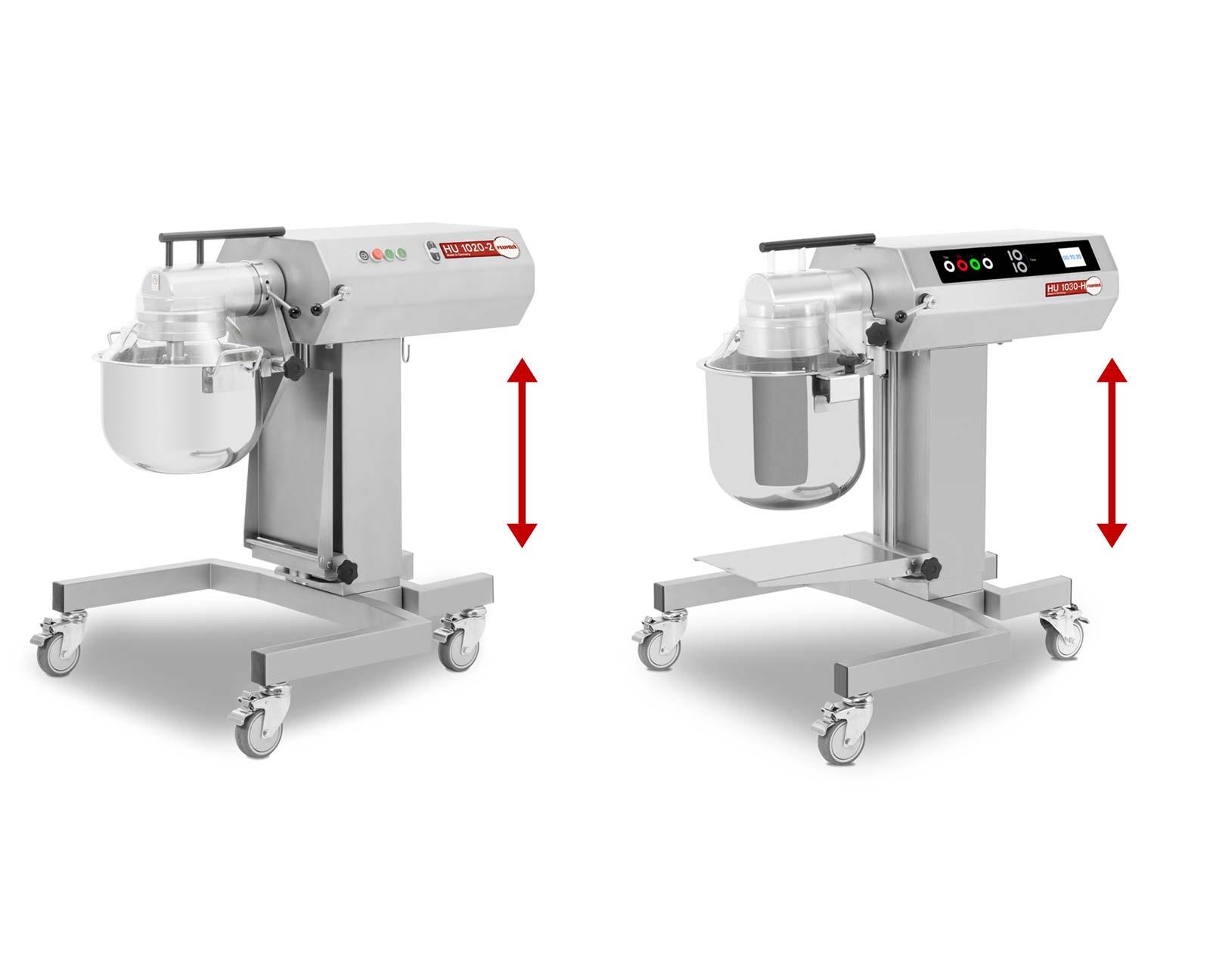 Feuma HU1020-2H und HU 1030-H verfügen beide über ein höhenverstellbares Untergestell - Multifunktions-Küchenmaschine für die Profiküche