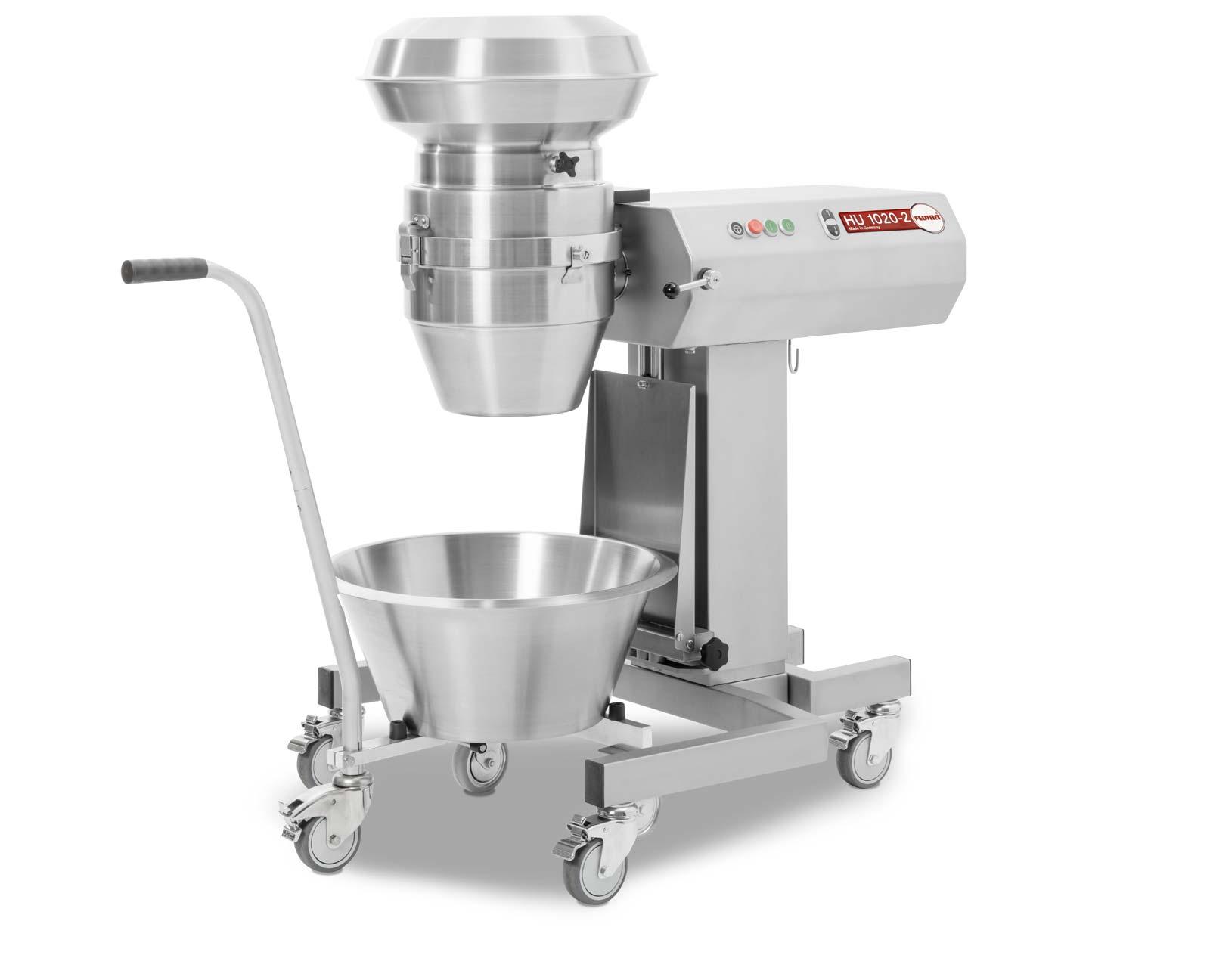 Feuma HU1020-2H Multifunktions-Küchenmaschine für die Profiküche - höhenverstellbares Untergestell mit Trichteraufsatz