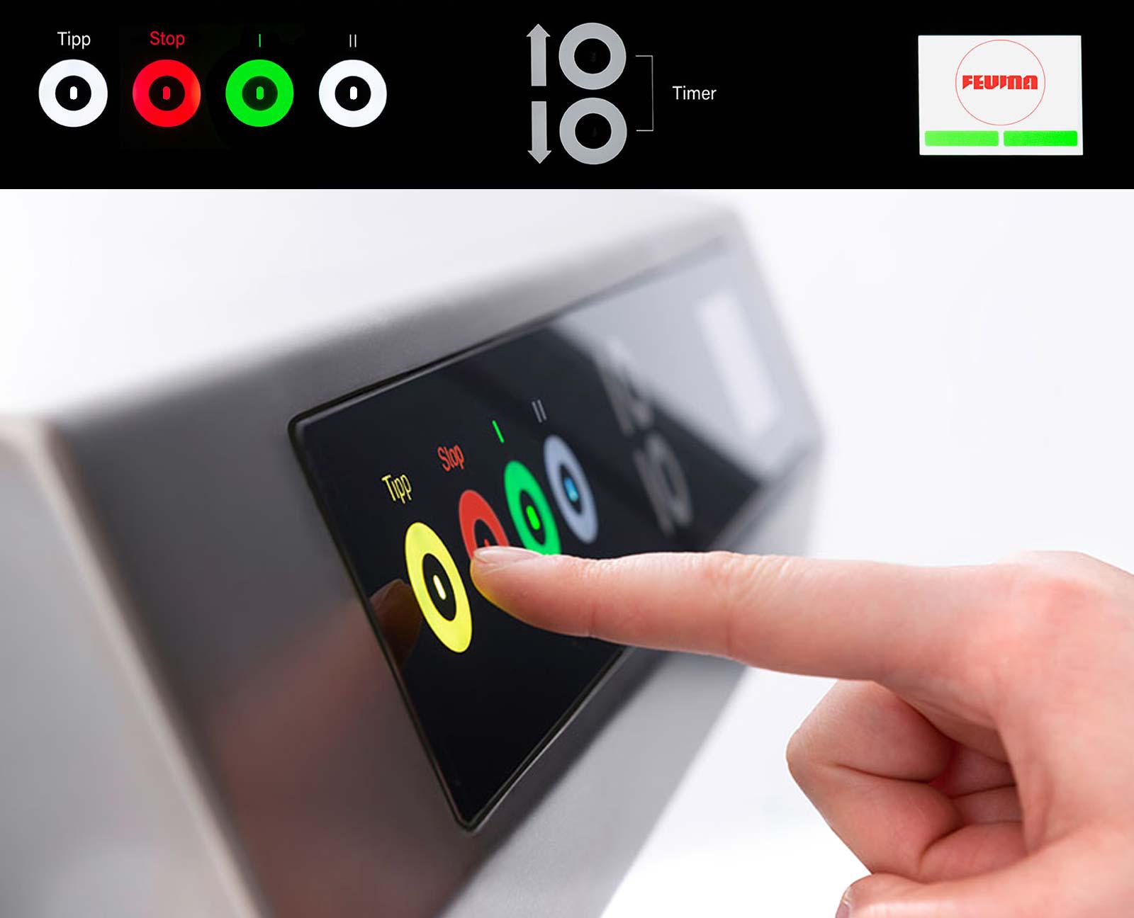 Berührungsloses Touch-Display - Feuma HU1030-H Multifunktions-Küchenmaschine für die Profiküche