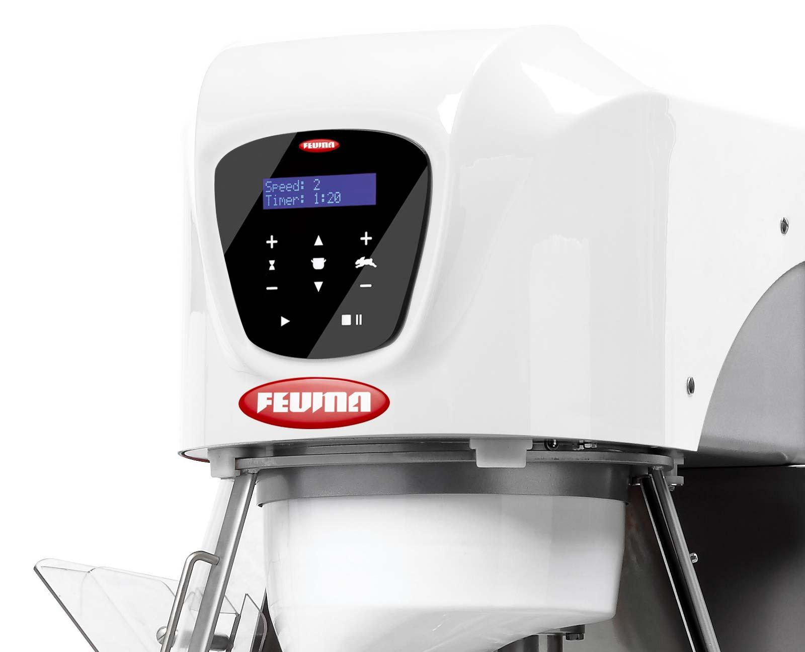 Feuma Planetenrührmaschine mit Touchscreensteuerung und elektrischer Höhenverstellung des Kessels