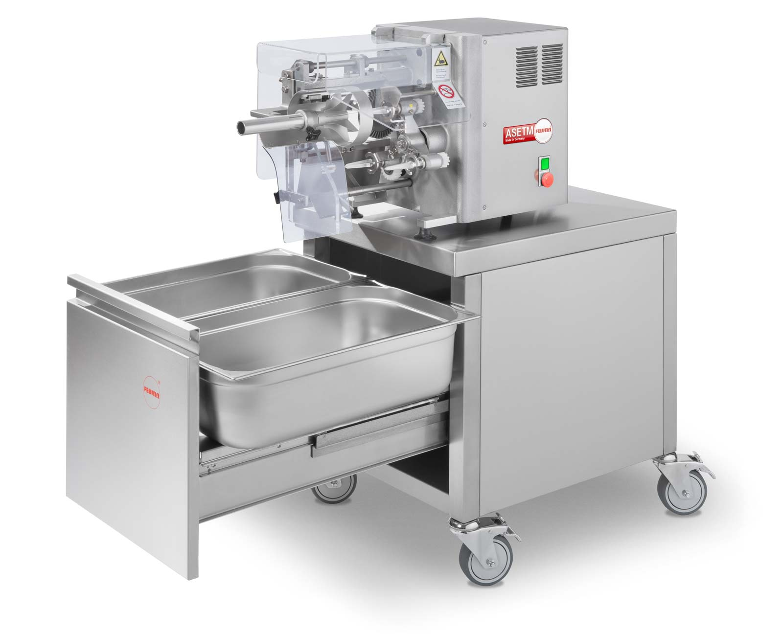 Feuma Apfelschälmaschine ASETM & ASETSM mit Unterwagen