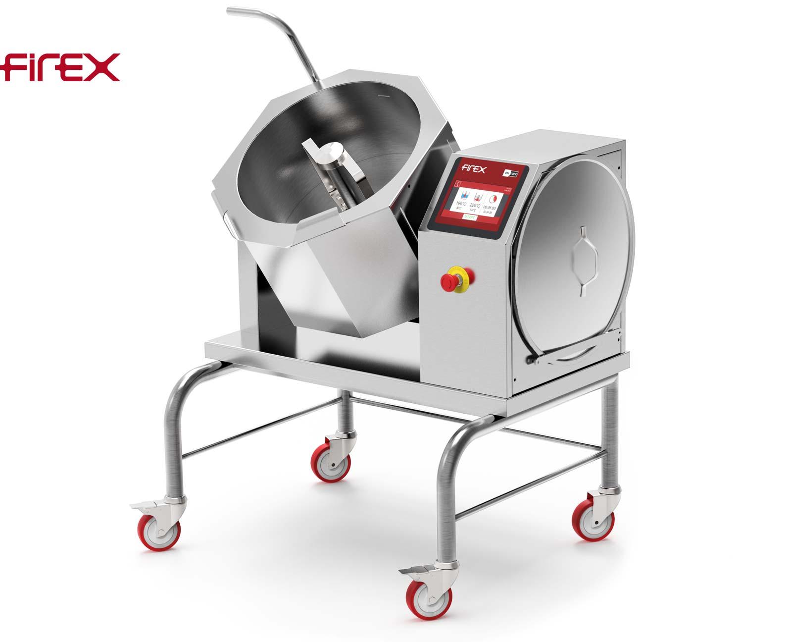 Firex Cucimix CBTE030 30 Liter - mobile Kippbratpfannen-Kochkessel-Kombination mit Rührwerk
