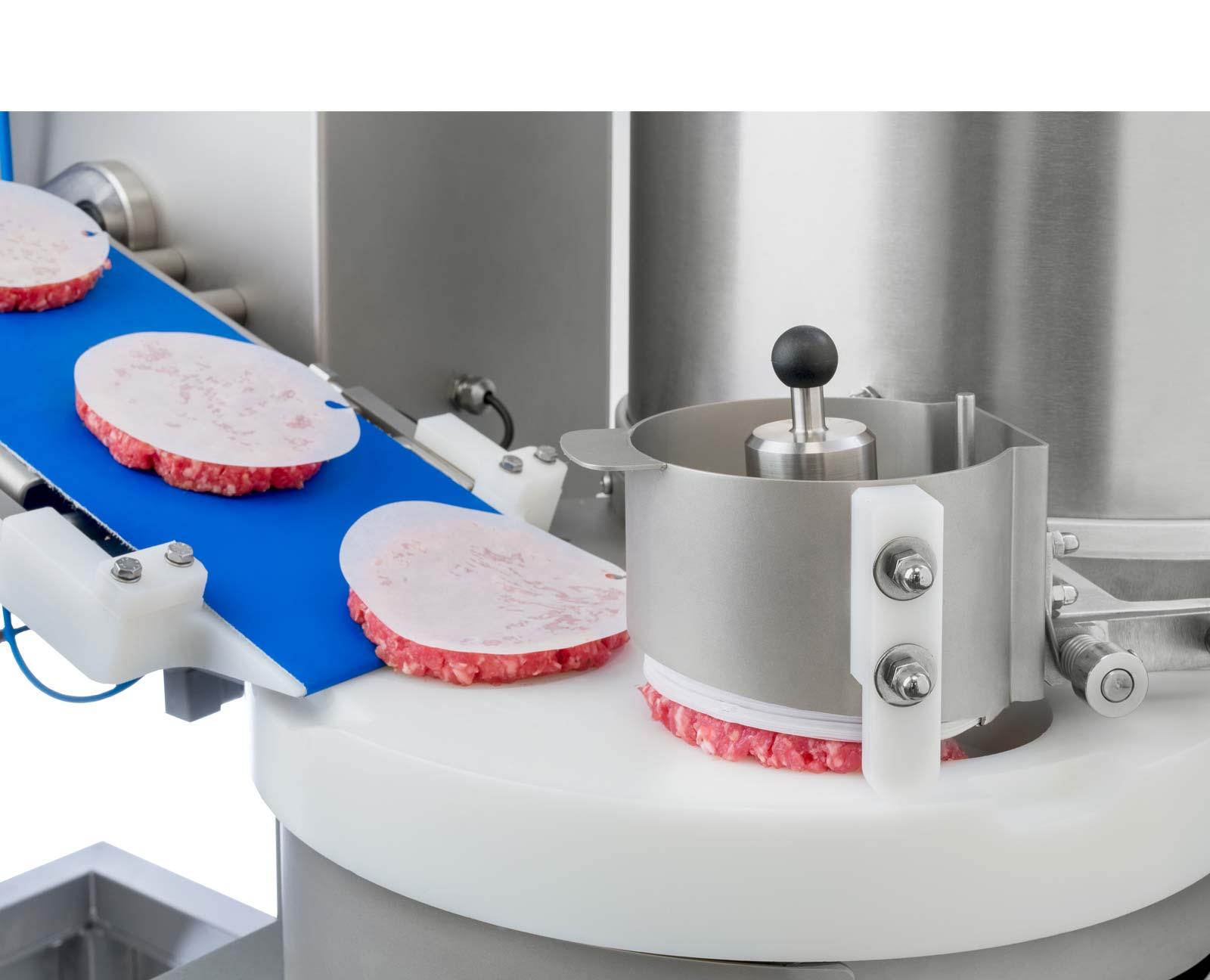 Automatischer Trennpapierspender für Hamburger + Frikadellen